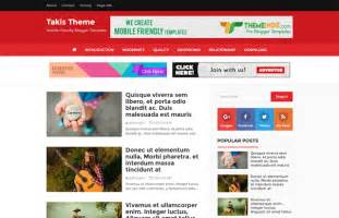 takis blogger template blog gallery