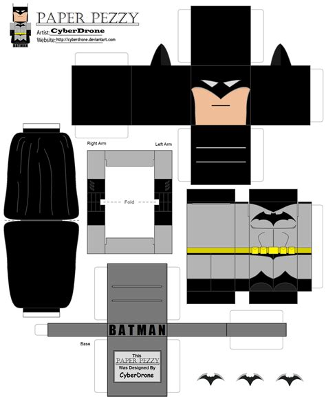 Batman Papercraft - paper pezzy batman by cyberdrone on deviantart