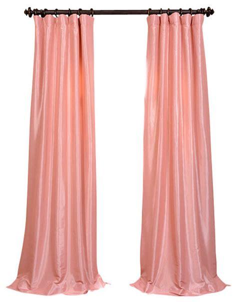 pink taffeta curtains flamingo pink faux silk taffeta curtain single panel