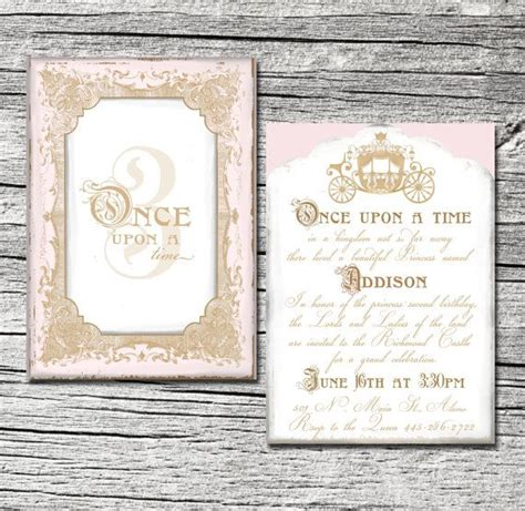 Abigail Andrade Once Upon A Time Invitation Set Of 10 By Theblueeggevents On Etsy 19 50 It Once Upon A Time Invitation Template