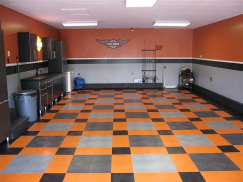 Home Decor Grey Walls by Harley Davidson Garage Eclectic Garage And Shed