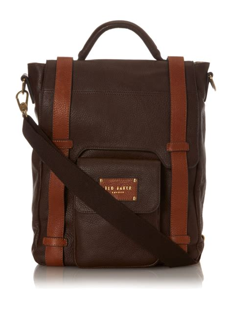 Ravee Bag From Ted Baker by Lyst Ted Baker Leather Satchel Bag In Brown For