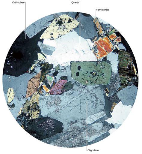 oligoclase thin section granodiorite credo reference