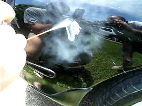 Hair Dryer Air Duster Dent get dents out of your car with compressed air and a hair