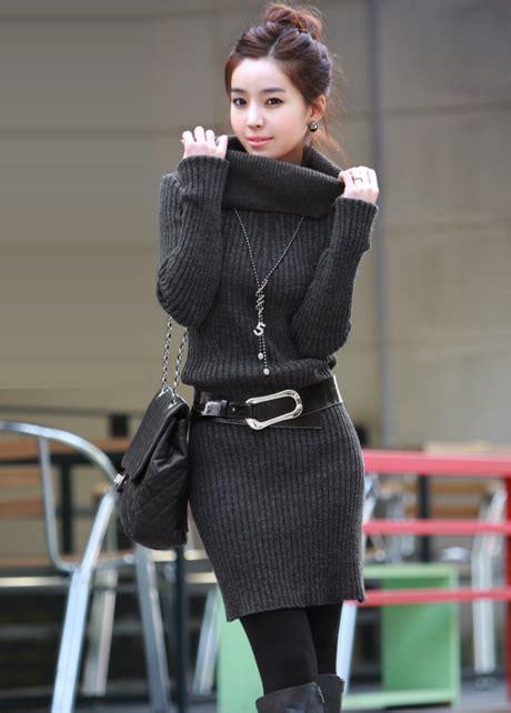 Turtleneck Sweater Dress High Quality high quality sleeve turtle neck sweater dress