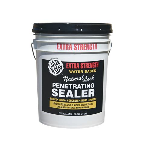 Acrylic Sealer eagle 5 gal clear look solvent based acrylic concrete