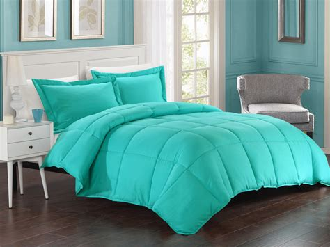 full comforters turquoise down alternative comforter set