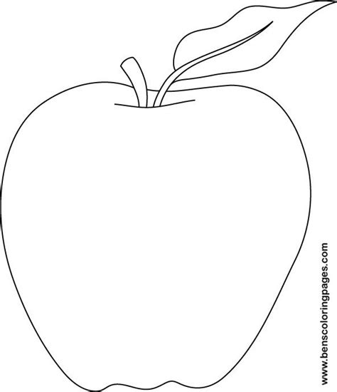 free printable coloring page of an apple free apple template snow white birthday party
