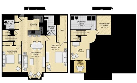 Loft 2 Floor Plans by Luxury 2 Bedroom With Loft House Plans New Home Plans Design