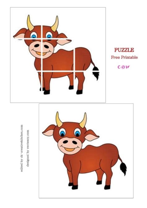 printable animal puzzles animals preschoolers puzzle free printable baby