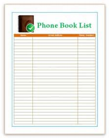 Free Book Template by Telephone Directory Template Word