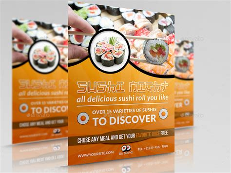restaurant advertisement template sushi restaurant flyer by owpictures graphicriver