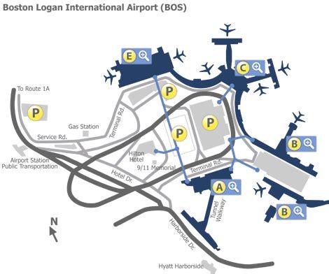 Boston Terminal Map by Boston Logan Airport Bos Terminal Maps Map Of All