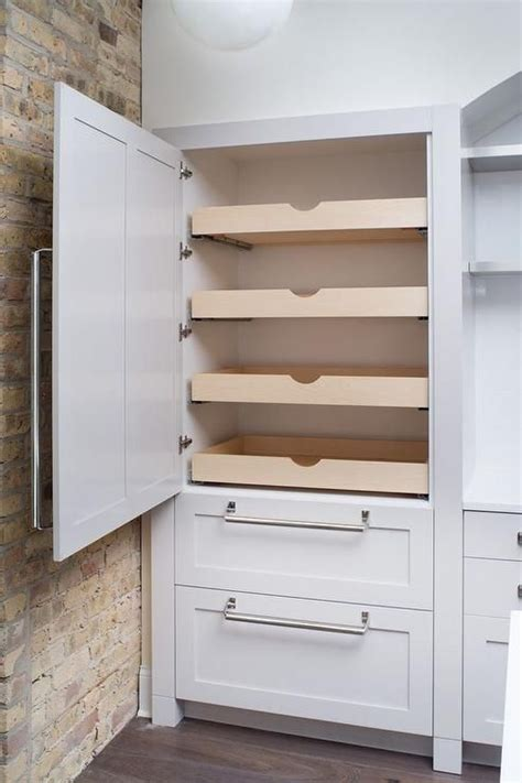 kitchen cabinet pull shelves fabulous kitchen features concealed pantry cabinets fitted with stacked pull out drawers next to