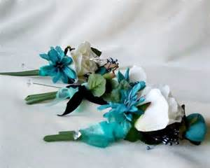 teal corsage teal wedding flowers silk corsages and boutonnieres bridal accessories amorebride wedding on