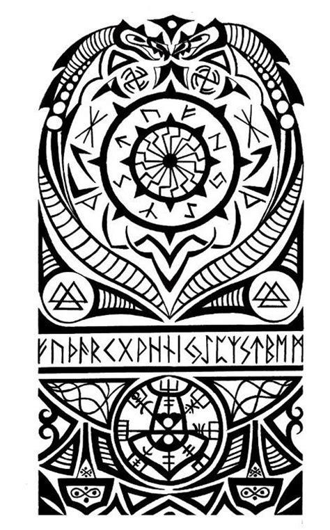 viking nordic tribal halfsleeve tattoo tattoo com