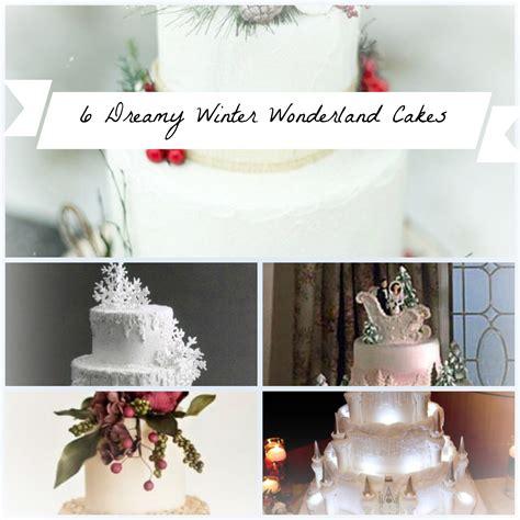 super dreamy winter wonderland wedding cakes