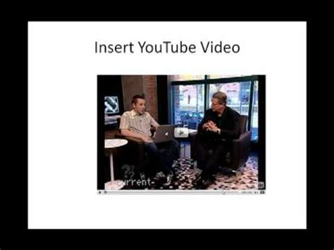 powerpoint tutorial youtube video how to embed youtube video in powerpoint presentations