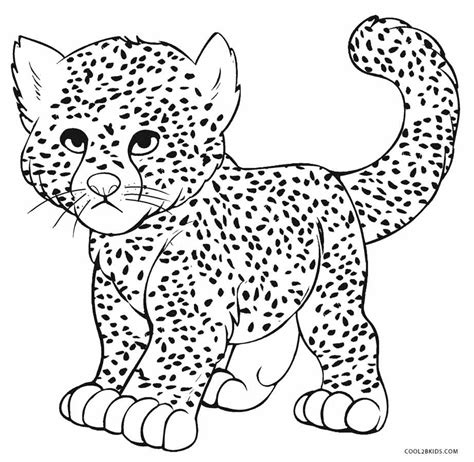 Realistic Cheetah Coloring Pages by Easy Cheetah Coloring Coloring Pages