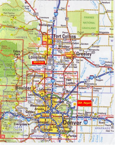 map of denver colorado denver map free printable maps