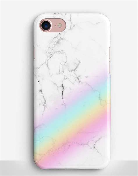 rainbow marble phone case catching rainbows