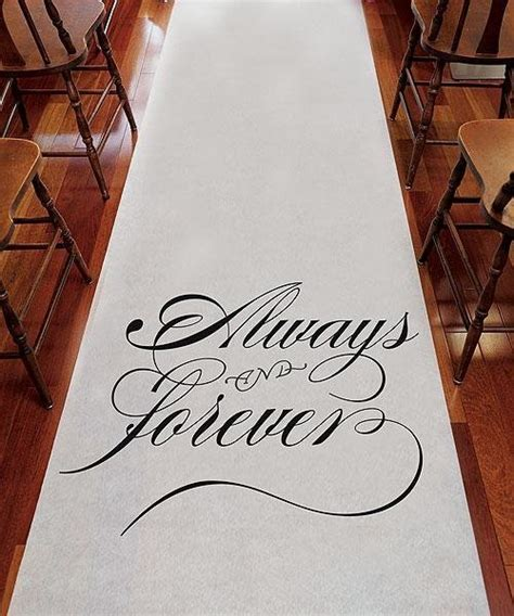 Always And Forever Wedding Aisle Runner   Wedding Ceremony