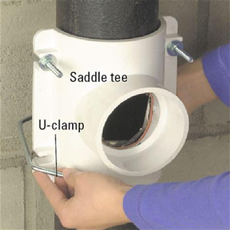 1 inch pipe floor saddle floor drain basics