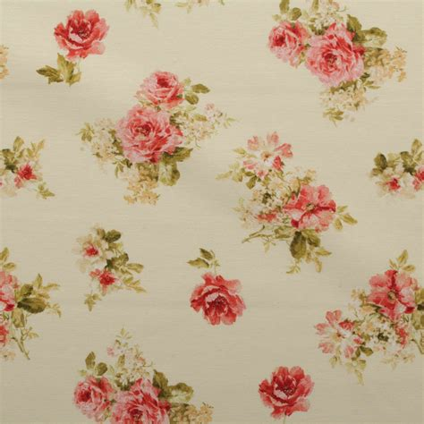 vintage curtain fabric vintage chintz shabby roses print retro 100 cotton