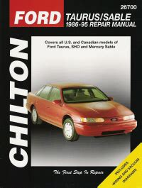 car repair manuals online free 1995 ford taurus engine control 1986 1995 ford taurus taurus sho mercury sable chilton total car care manual