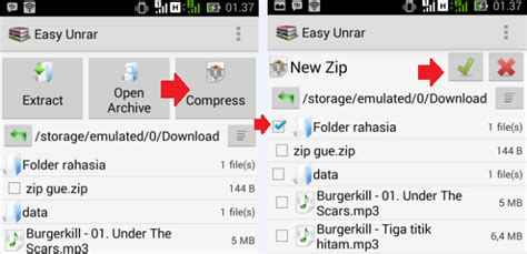 membuat password zip cara membuat berkas zip dengan password di android