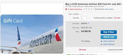 American Airlines Gift Cards For Sale - today 8 11 off american and southwest flights no mas coach