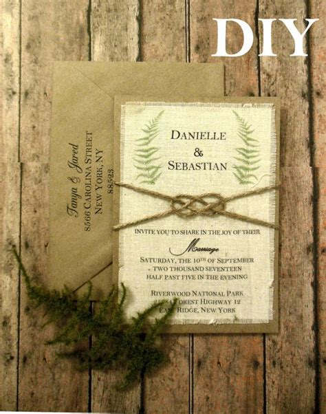 Fern Paper Wedding Invitation Kits by 32 Best Our Products Images On Burlap Canvas