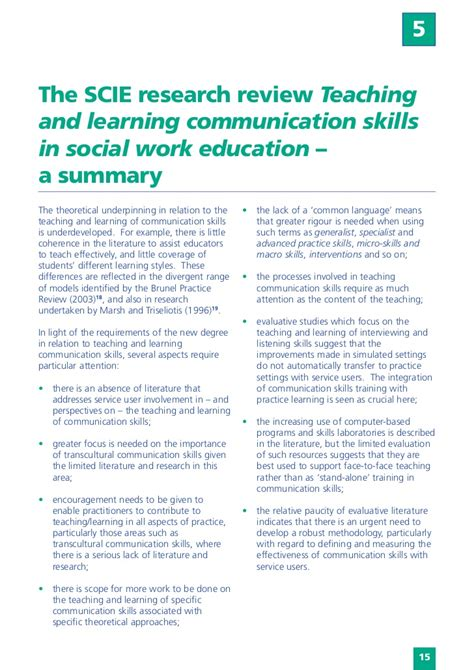 teaching and learning communication skills in social work education