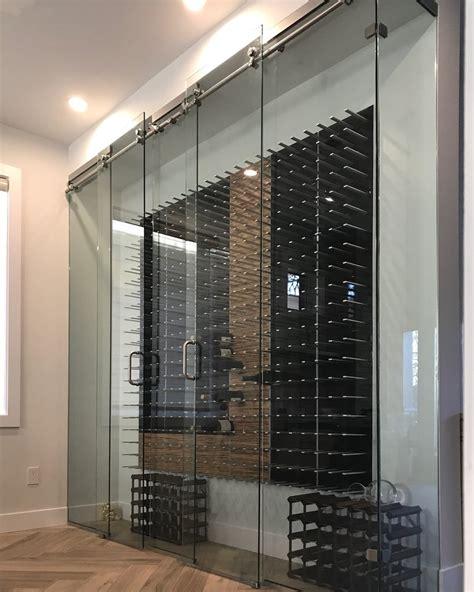 glass door wine storage glass enclosed wine cellars stact wine racks