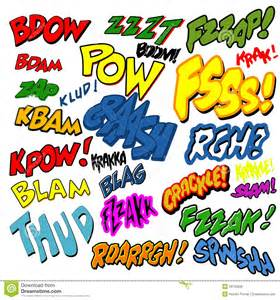 comic book words clipart