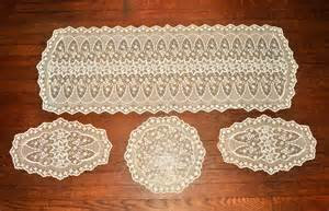 Nightstand Measurements Gorgeous Vintage Lace Dresser Scarf Or Table Runner Set