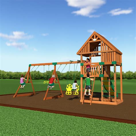 quest wooden swing set playsets backyard discovery