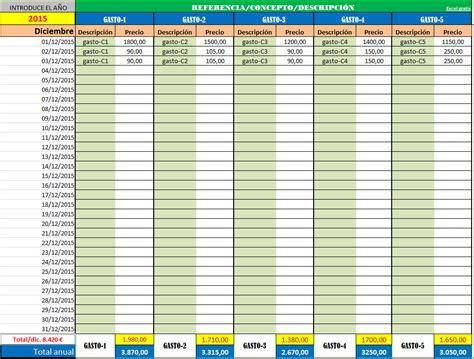 formato en excel control de ingresos y gastos personales ingresos y gastos