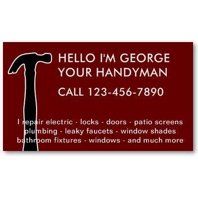handyman business cards templates free business card sles for handyman best business cards