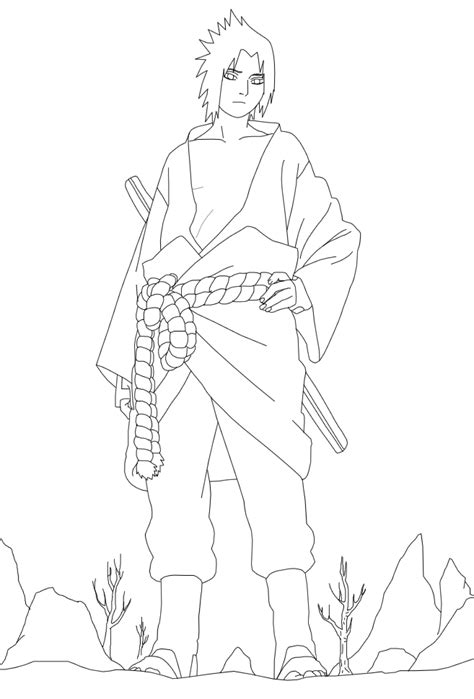 sasuke coloring pages coloring home