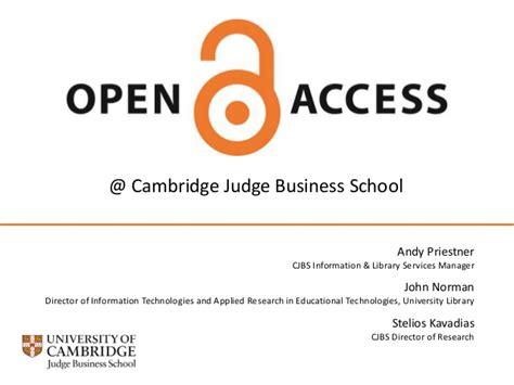 Cambridge Judge Business School Mba Application by Open Access At Cambridge Judge Business School 29 November