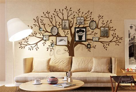 living room wall decal home decor family tree wall decal living by designeddesigner