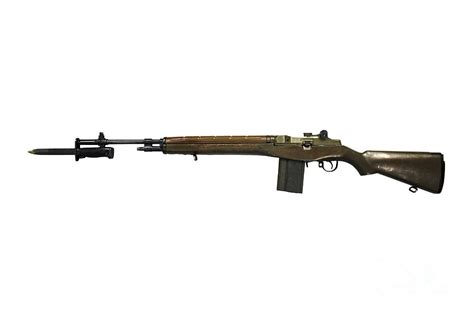 M S Duvet Cover M14 Rifle Developed From The M1 Garand Photograph By