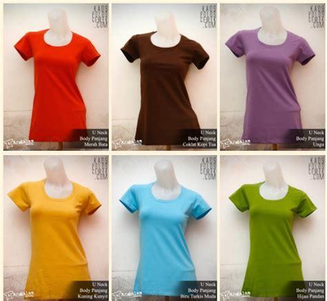 Xl Tshirt Kaos Polos Oneck Wanita Cewek Lengan Panjang Combed grosir kaos polos andalas grosir kaos polos murah dan