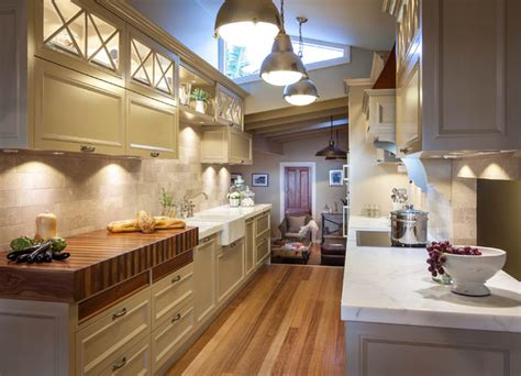 Galley Kitchen Lighting Burleigh Heads Hton Style Kitchen Traditional Kitchen Other Metro By Interiors By