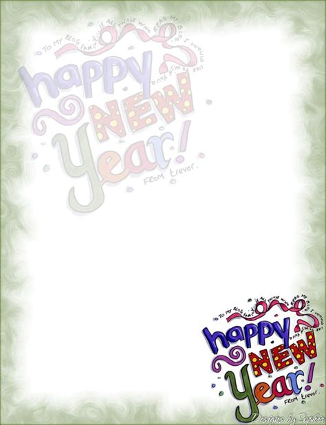 New Year S Stationary Printable | my printable stationary creations 3 sophia designs