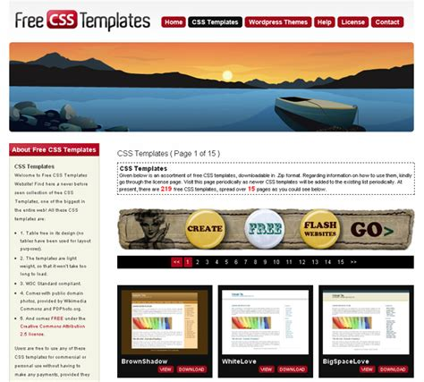 free css templates for android free website templates