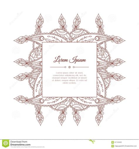 indian wedding doodle doodle paisley frame stock vector image