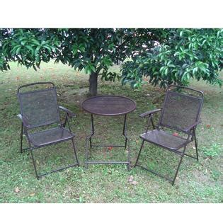 sears wrought iron patio furniture sunriseumbrella s 405 coffee bistro set patio set table