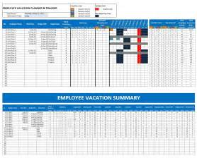 vacation calendar template employee vacation tracking excel templates calendars